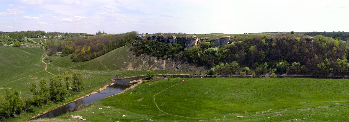 Панорама Воргольских скал (Звонари)