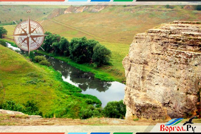 Воргольские скалы. Вид на реку Воргол со Звонарей
